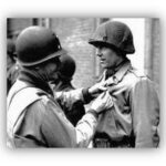 world war ii soldier being awarded a medal