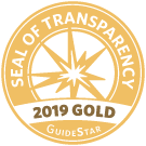 logo for guidestar 2019 gold seal of transparency