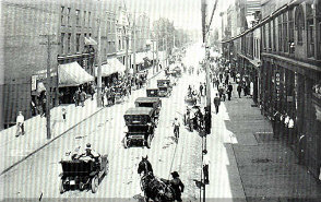 vintage photo of downtown ellwood city